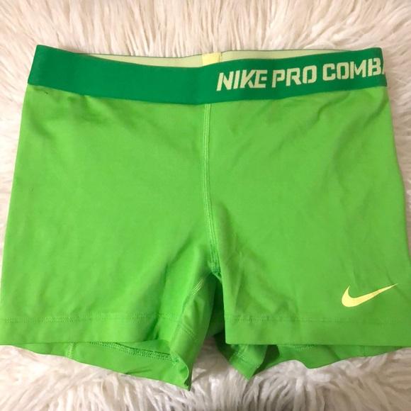 Nike Pants - Nike lime green spandex shorts
